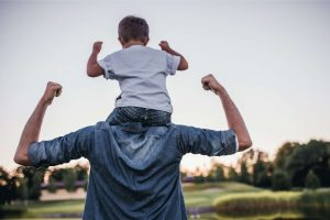 A Jacksonville father enjoys time with his son following his exomes therapy