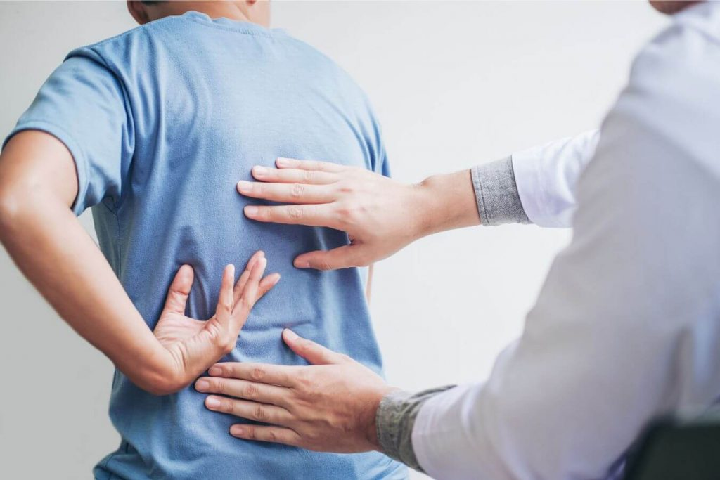 A Houston TX man with back pain at stem cell consult