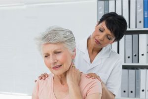 Seattle woman at stem cell consult for neck pain