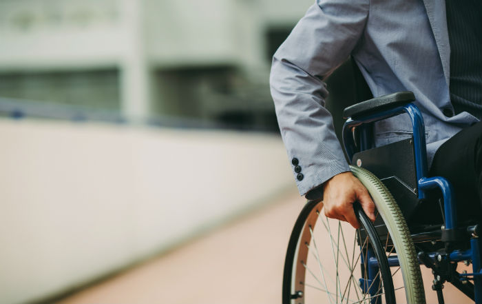 Detroit man with MS in wheelchair