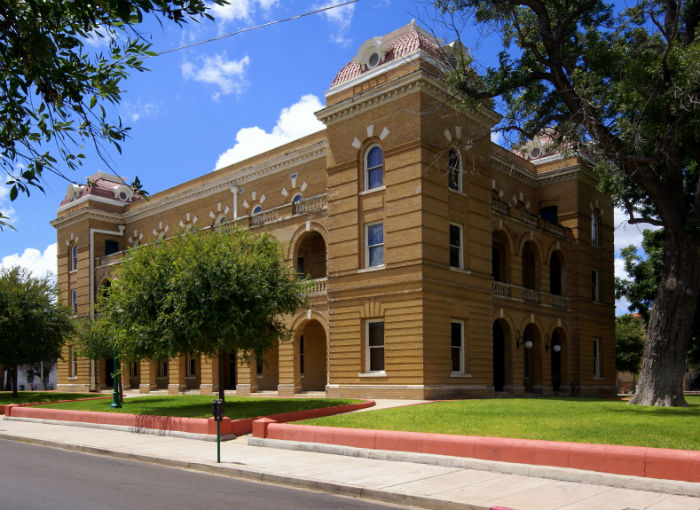 View of the Webb County Courthouse in Laredo TX