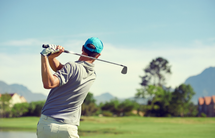 A Mesa man golfing after his stem cell treatment