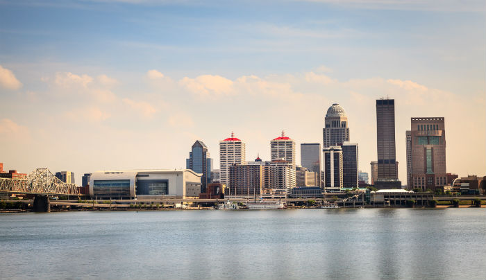 View of downtown Louisville KY