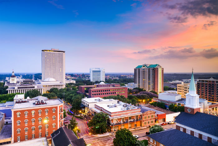 Downtown Tallahassee in Florida