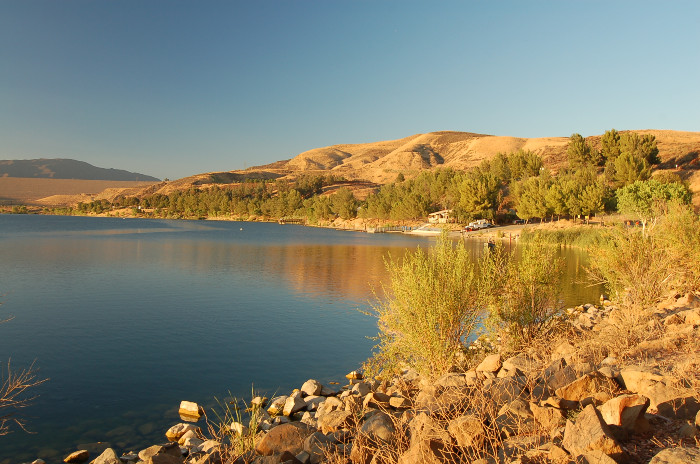 View of Castaic Lake in Santa Clarita California