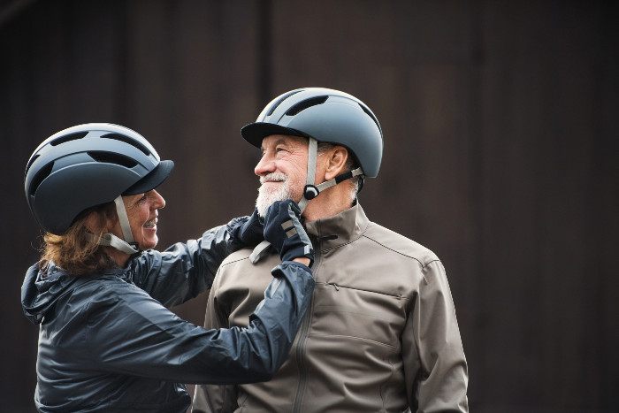 Cary couple puts on their bicycle helmets