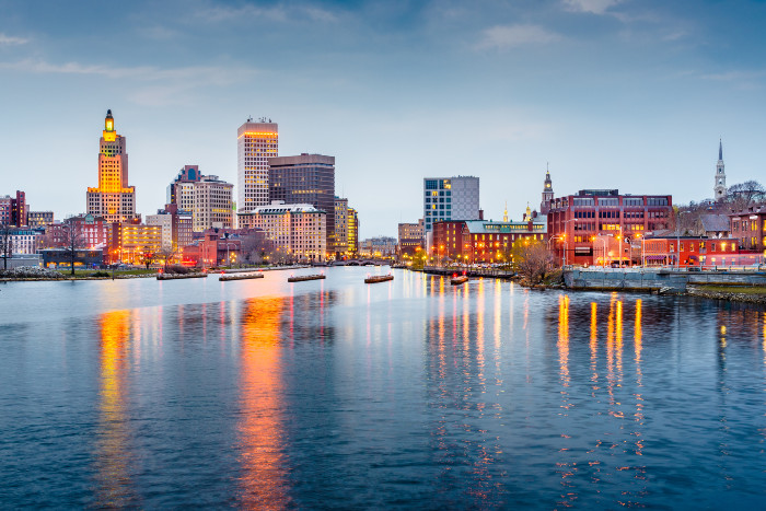 View of the city skyline in Providence Rhode Island