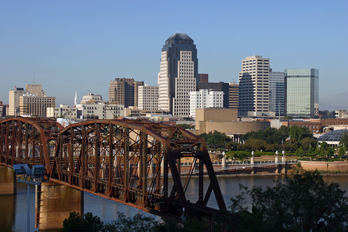 View of downtown Shreveport in Louisiana